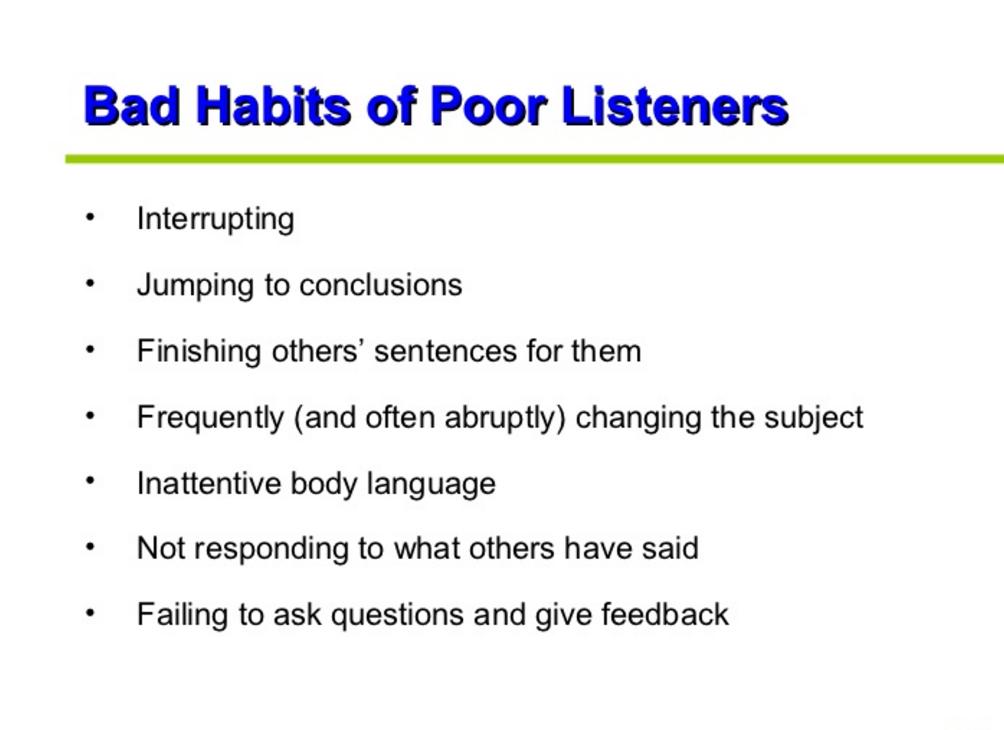 Poor Listeners