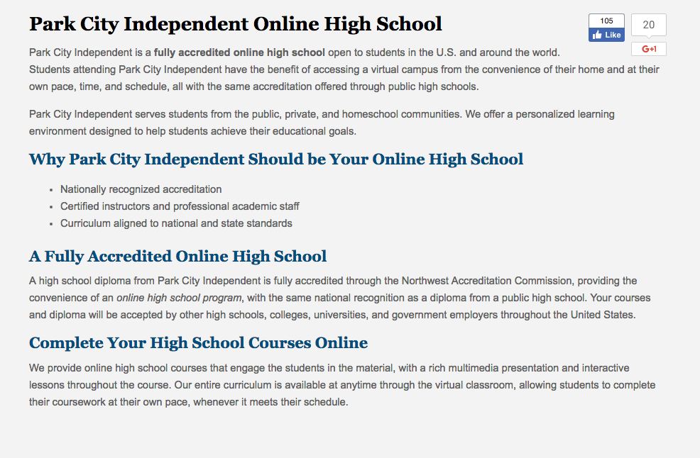 Online Summer School For All High School Students Passion In Education